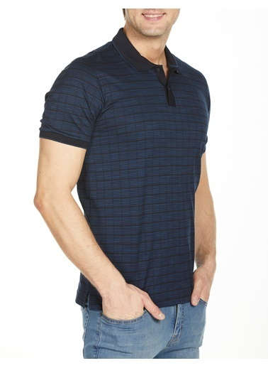 Bisse TS20Y20104 Polo Yaka T'Shirt Lacivert